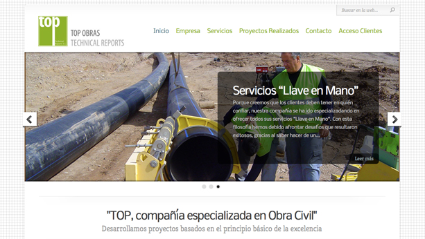 Top Obras Website