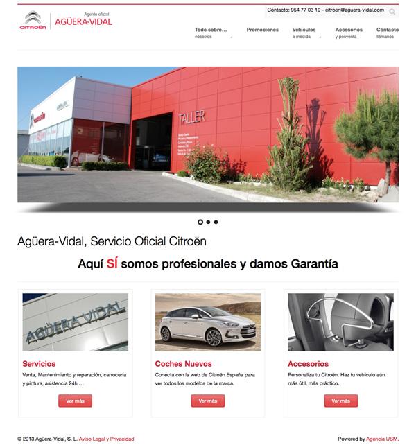 Ejemplo de website con un diseño atractivo