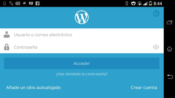 Aplicación móvil para WordPress